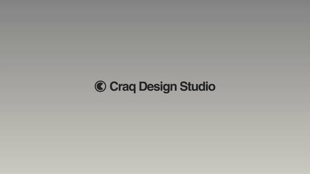 Craq Design Studio Logo Animation #MotionGraphic