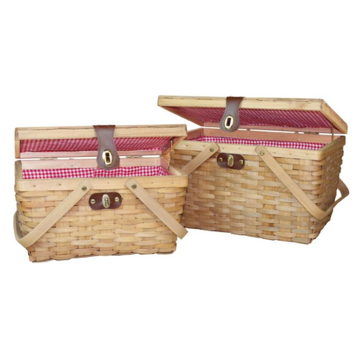 Cheap Picnic Baskets Romantic Simple Wicker For 2 Beach Traditional Set of Two #CheapPicnicBaskets