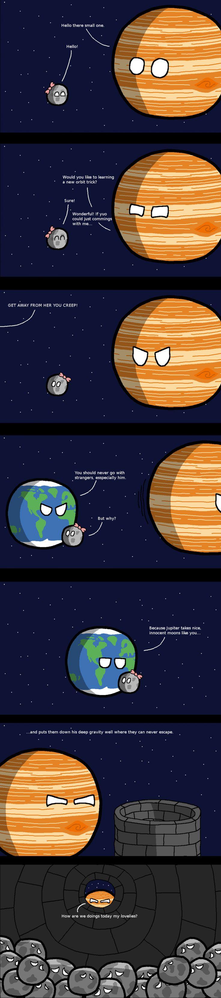 Jupiter entführt kleine süße Monde