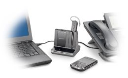 Multiple devices, singular control. Three-way connectivity that allows easy switch and mix of audio between desk phone, PC and mobile phones. Choice of wearing styles to match personal preferences.
