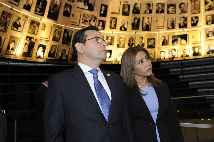"The President of Guatemala, H.E. Mr. Jimmy Morales, visited Yad Vashem, Jerusalem, Israel on 28 November, 2016 together with his wife Patricia Marroquín. At the end of his visit, President Morales said: ""Humanity cannot surrender to actions that threaten its very existence. In the darkest and most painful moments in history, we always knew how to find the light to guide our ways."""