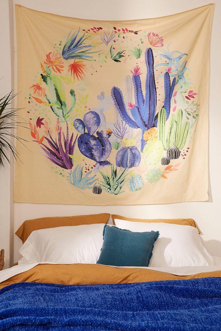 Slide View: 1: Cactus Terrarium Tapestry