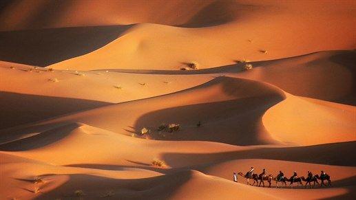 Morocco - golden dunes at Erg Chebbi, Merzouga, Morocco #kilroy #travel #explore #morocco #desert #destinations2017