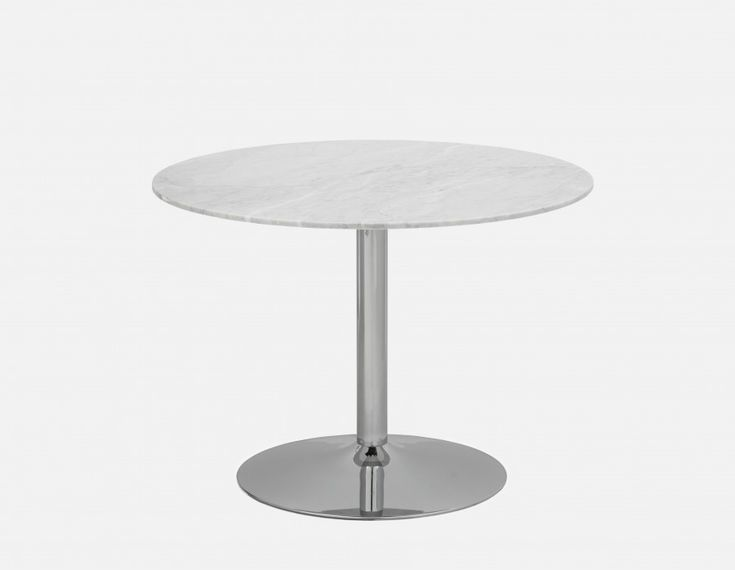 MARTINI - Marble Dining Table 106cm - White