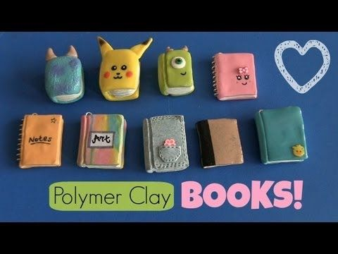 Clay Book & Notebook Charms! Back-to-School