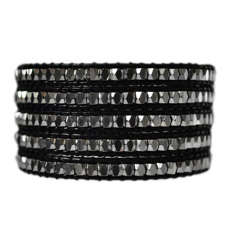 Classic Black 5 Wrap Jewelry Bracelet. On super-sale via Emmajaxon.com.  #bracelet #jewelry #black #wrapbracelet #2014style