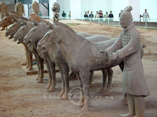 Xi'an, China. The Terra Cotta Warriors and Horses are the most significant