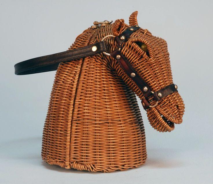 Horse head wicker handbag, 20th c | Accessories | Pinterest ...