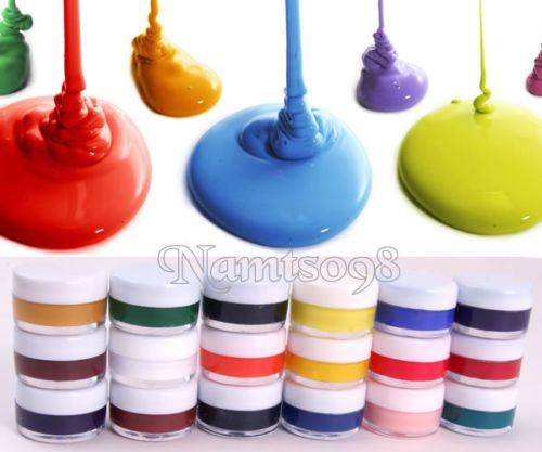 Set-Of-18-X-7ml-Assorted-Colors-Acrylics-Art-Painting-Bottle-Canvas-Paper-Fabric