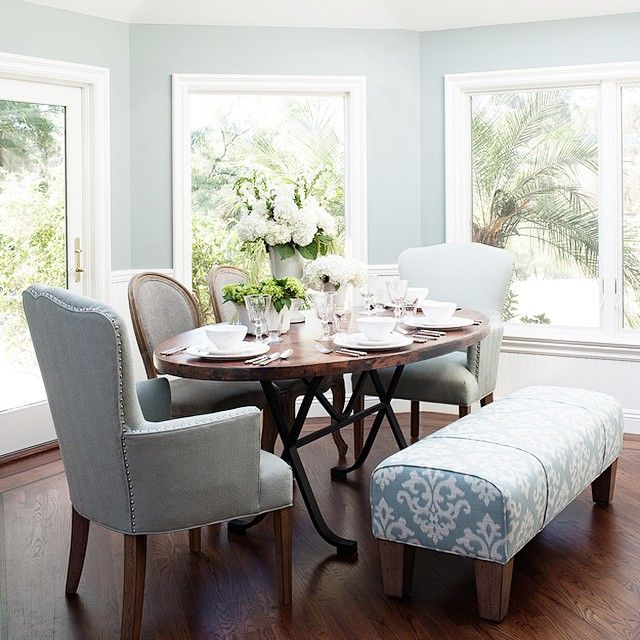 """""""#tbt to our pieces featured in Beverley Mitchell's airy LA dining room, we'd love to have breakfast in this sun filled space!"""""""