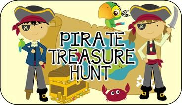 this pirate party scavenger hunt makes it so easy to set up a pirate scavenger hunt game at your childs Birthday party.  Ready to print and play anywhere!