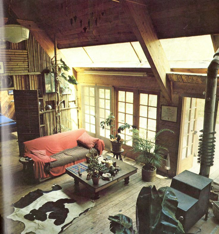 // Rustic cabin living space