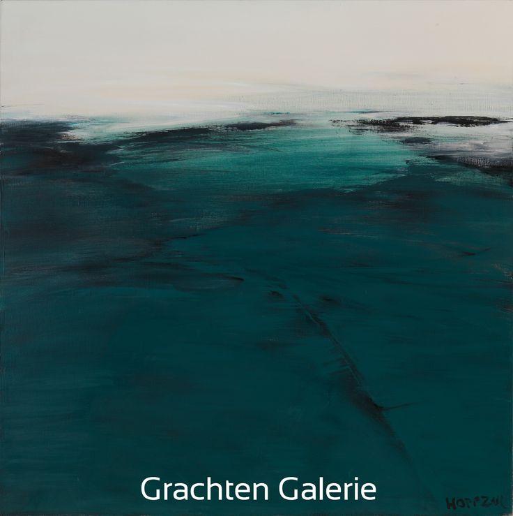 Z.t. 4 | Andre Hoppzak | Schilderij | Painting | Kunst | Art | Blauw | Blue | Wit | White | Zwart | Black | Grachten Galerie