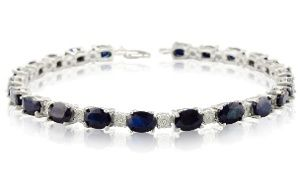 Groupon - 15 CTTW Sapphire and Diamond Bracelet in [missing {{location}} value]. Groupon deal price: C$299.99