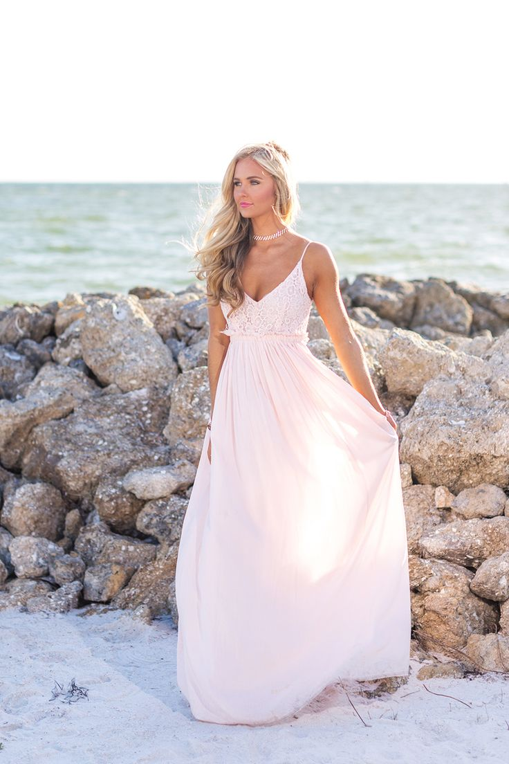 Once In A Lifetime Maxi Dress Light Pink - The Pink Lily