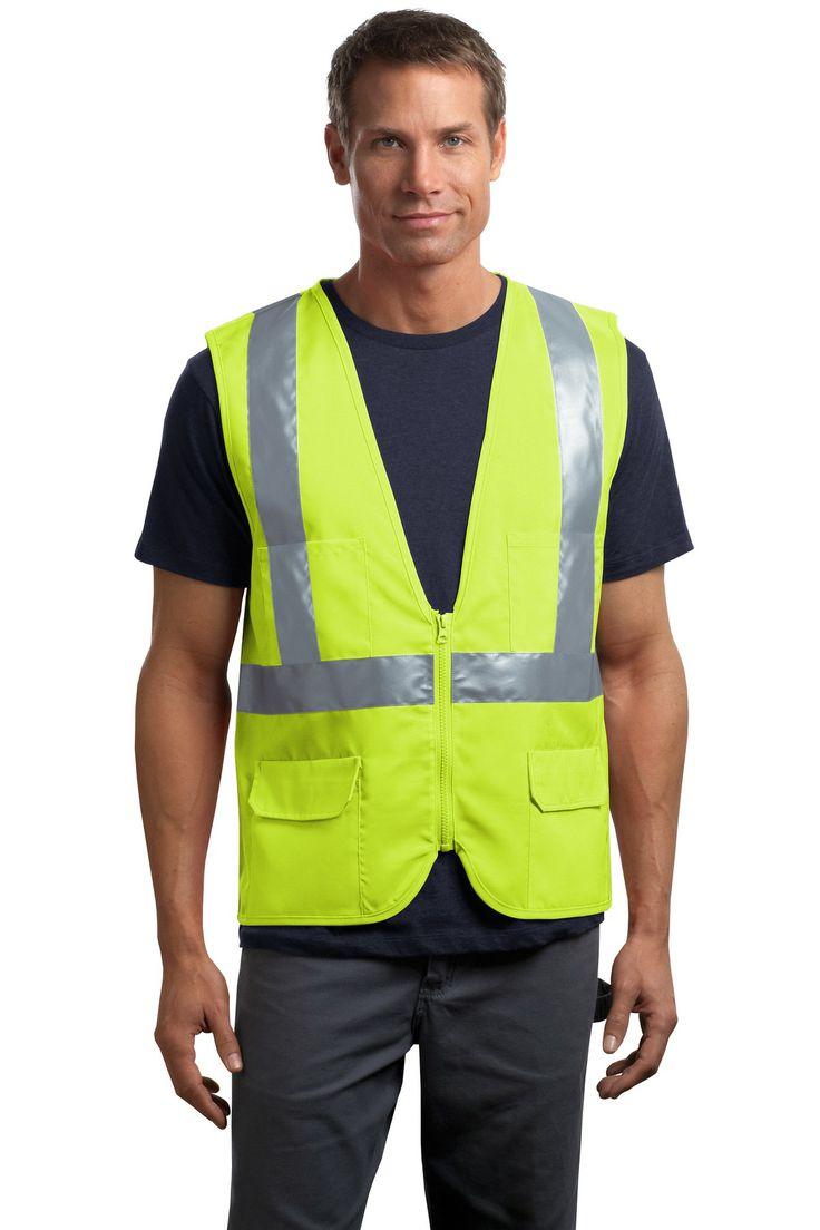 Ansi 107 class 2 mesh back vest safety clothing safety