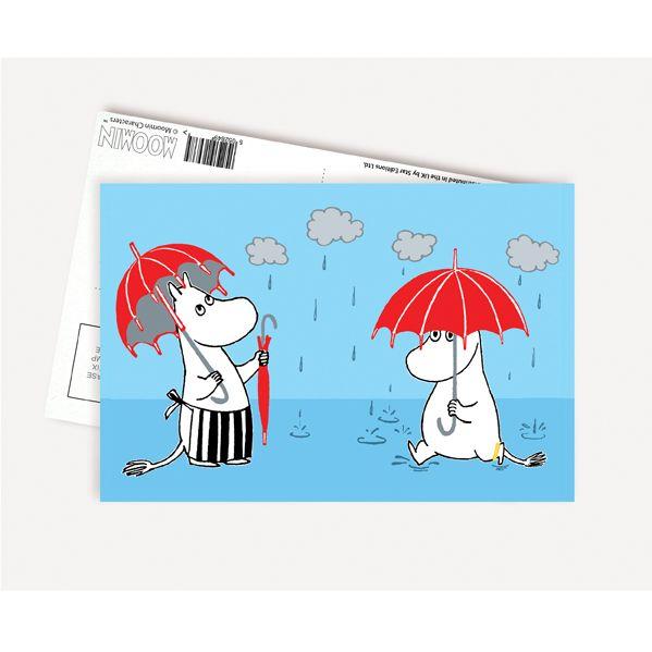 Moomin Postcard - Rain