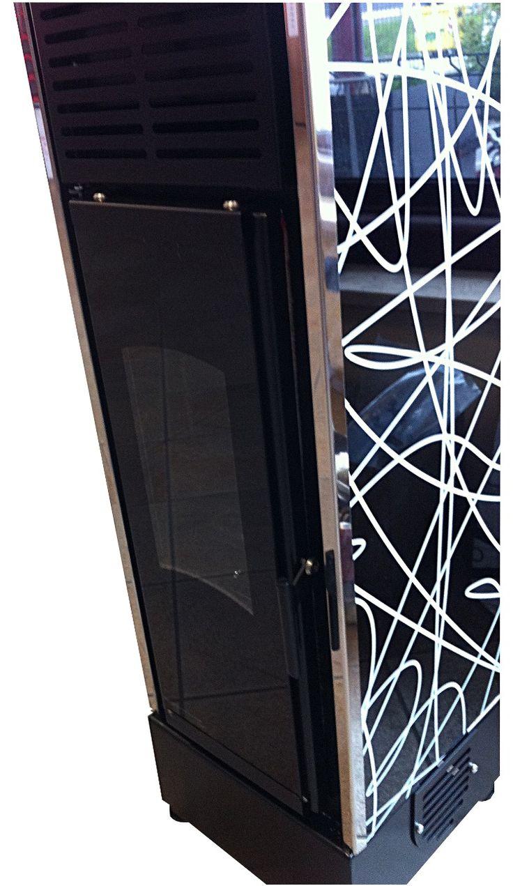Stufa a Pellet Pretty Stove Design Full glass and stainless steel ::  Stufe e Inserti per Camino Produzione Cuneo