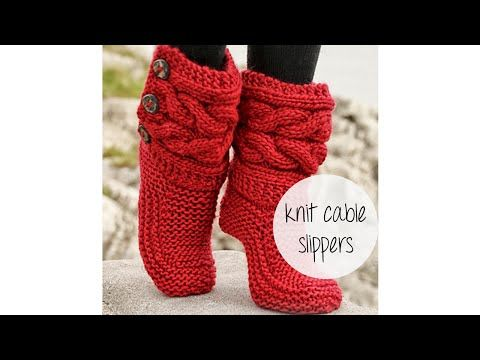 PHOTO TUTORIAL: http://iknitspatterns.blogspot.com/2014/11/rewritten-cable-slippers-pattern.html PLEASE WATCH ON YOUR COMPUTER! I put annotations on the vide...