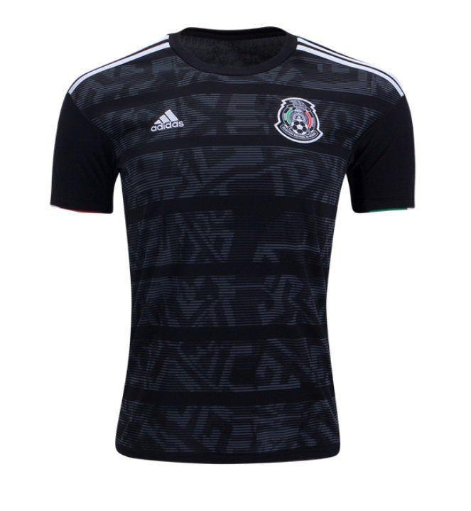 Men S Mexico 2019 2020 Home Soccer Jersey Black Mexico Soccer Jersey Soccer Shirts Soccer