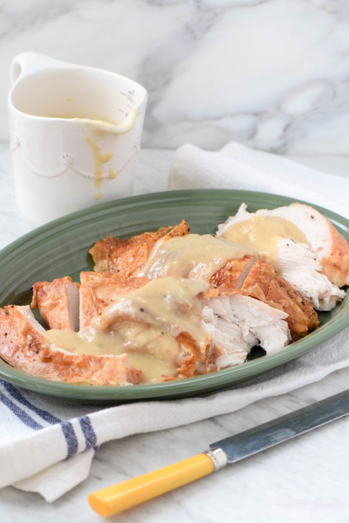 White meat lovers rejoice! How to roast just a turkey breast and make amazing gravy with the pan drippings.