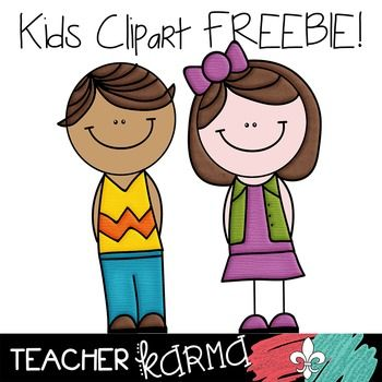 Kids and Students Clipart FREEBIE Clipart!  Perfect for TpT sellers, classroom teachers and scrapbookers!  TeacherKarma.com
