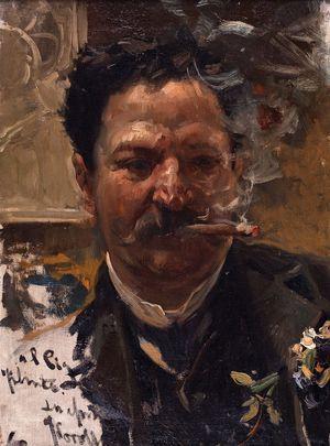 Smoking a Cigar, c.1895