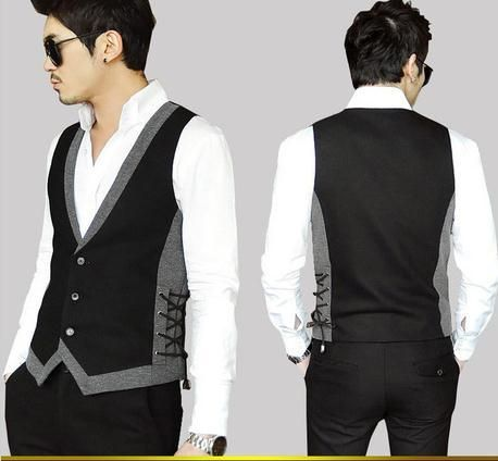 mens formal vests | Fashion Discount Men's Vest Formal Business Suit Career Vests Slim ...