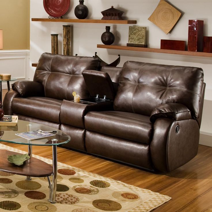 dodger console sofa by southern motion