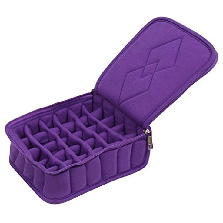 Queentools 30-Bottles Essential Oil Carrying Case – for Travelling Oils Display, Organizer Bag with Double Zipper, Contains 5ml,10ml,15ml Bottles (Purple) -- Read more reviews of the product by visiting the link on the image. (This is an affiliate link and I receive a commission for the sales)