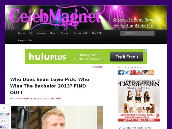 Who Does Sean Lowe Pick: Who Wins The Bachelor 2013?