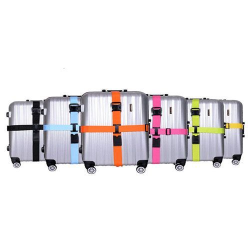 Two-Piece Adjustable Luggage Strap Set
