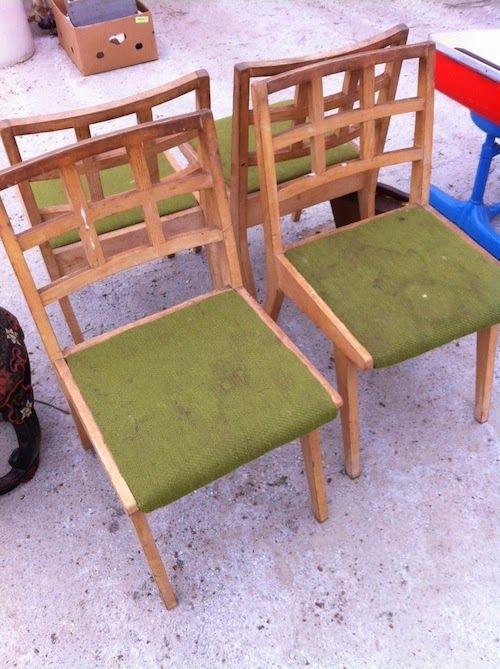 Mid-Century Modern chairs On the Doorstep: The Flea Market, What Cheer Iowa