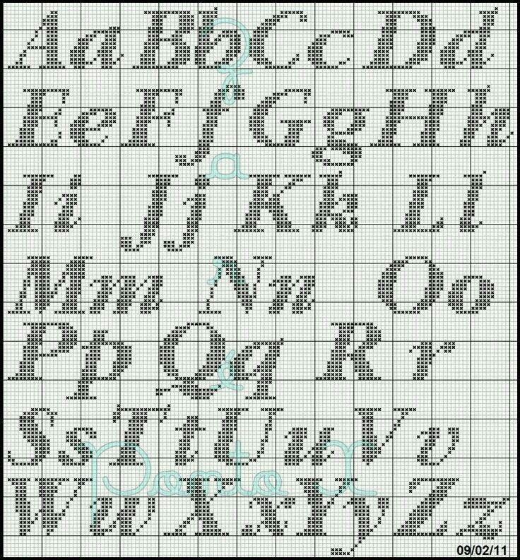 Knitting Cursive Letters : Best alphabet charts images on pinterest cross
