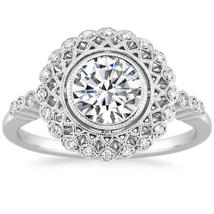 The breathtaking Alvadora Diamond Ring was inspired by Art Deco glamour. #vintage