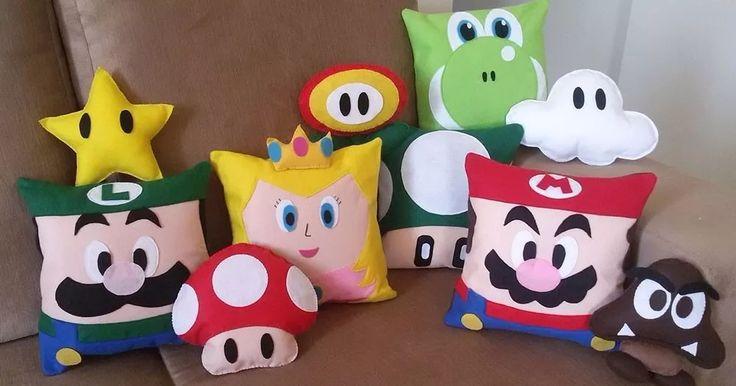 Almofadas Super Mario Bros - 10 Almofadas Lindas Coleção - R$ 199,99 em Mercado Livre
