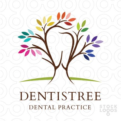 Logo Sold Beautiful colourful logo design. The branches are designed to create a tooth shape within the tree shape.