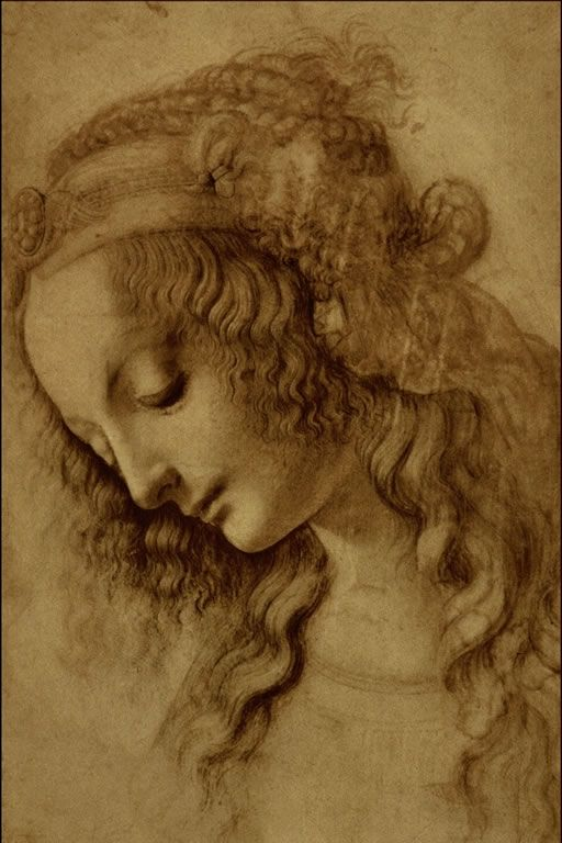 Woman's head. Leonardo da Vinci (1452-1519).