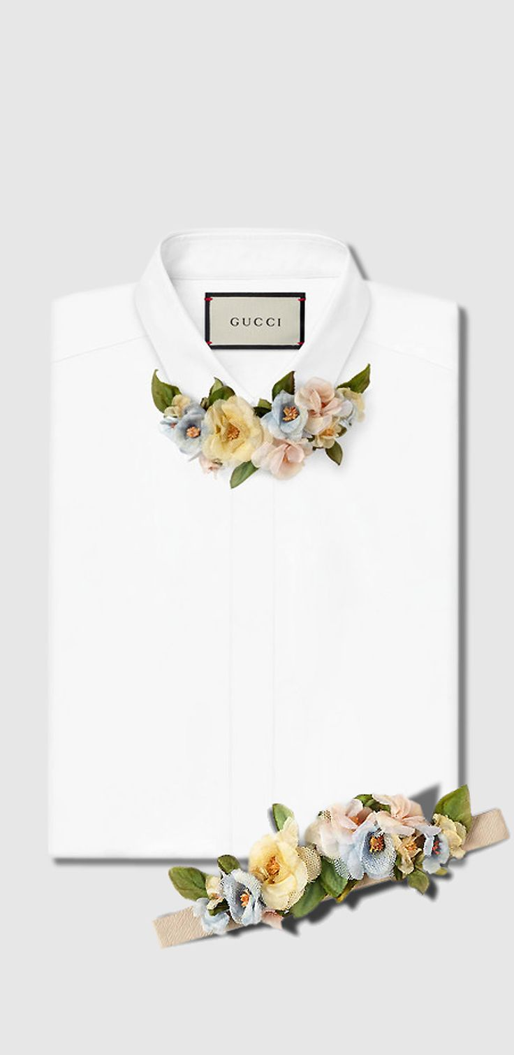 mens floral neck bow GUCCI
