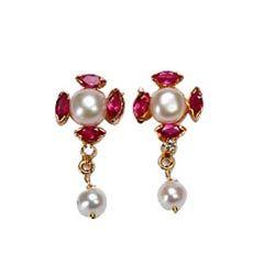 Stunning Pearl Earrings to Bangalore, Karnataka Rs. 680 / USD 11.33