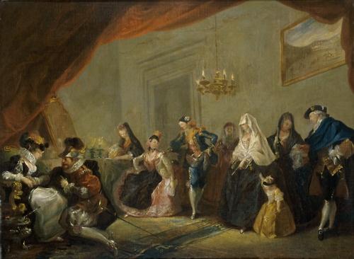 Luis Paret y Alcázar    Rehearsal of a Play (1772-73)