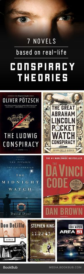 7 fascinating books based on real-life conspiracy theories.