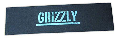 Grizzly Stamp Print Blk/Blue (Single SHEET)9X33 Skateboard Grip Tape