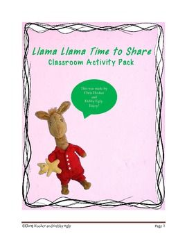 Llama Llama Time To Share Activity Pack FREE