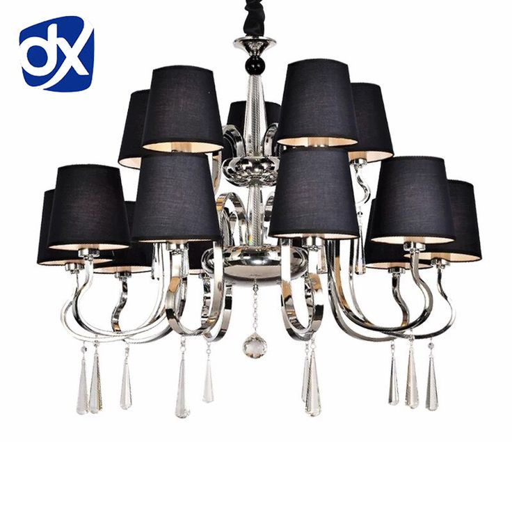 Modern Chandelier Black Fabric Lampshade Chandelier Modern Lighting Living Room Light High Quality Metal Paint home office *** AliExpress Affiliate's Pin. Check out this great product.