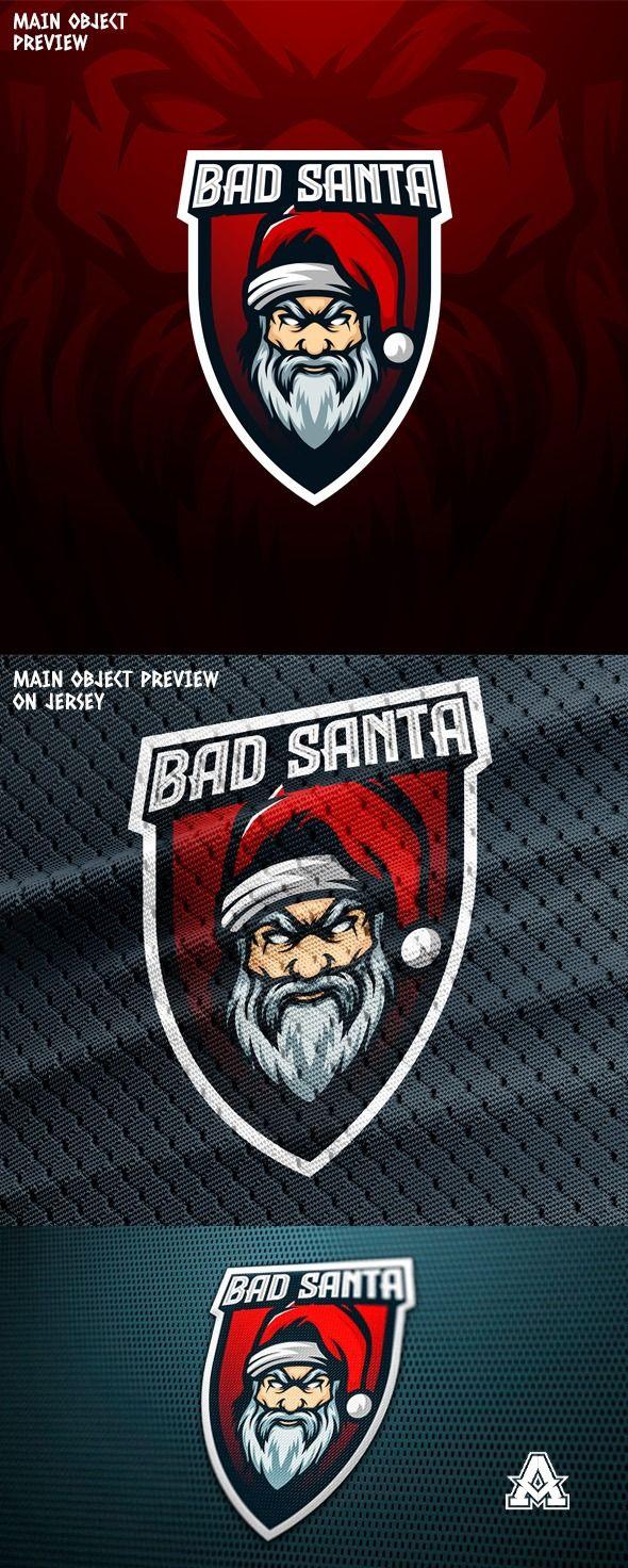 Download Bad Oldman Santa Mascot Vector Template Mascot Vector Logo Templates