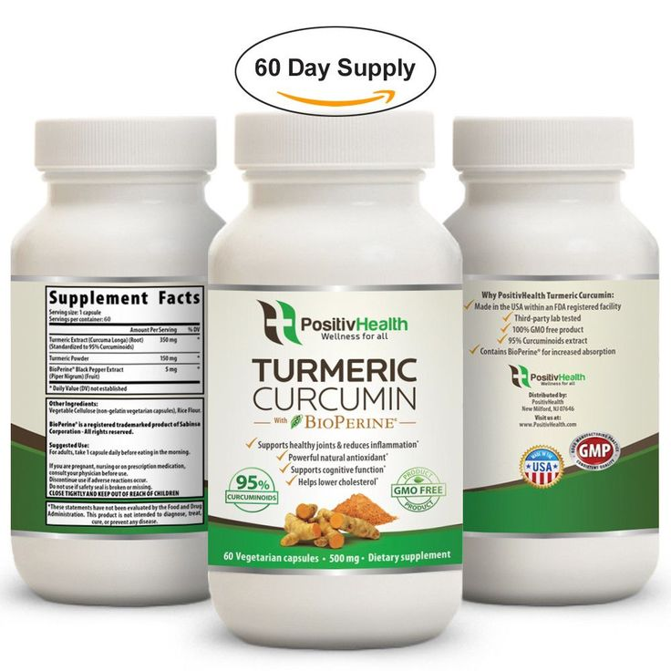 Turmeric Curcumin Supplement with BioPerine 2 Month Supply: Joint and Muscle Pain Anti Inflammatory Antioxidant Anti Aging Supplement 95% Curcumin Extract 100% Natural Turmeric Capsules