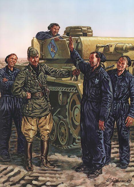 """Regio Esercito - """"1ª Divisione Corazzata 'M', Roma, Estate 1943""""   Giuseppe Rava"""