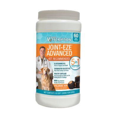 Vetscription Joint-Eze Eklem, Kemik ve Kıkırdak Güçlendirici Çiğneme Tableti Köpek Vitamini 60 Tablet Köpeğinizin doğal gelişimi için gerekli glikosaminoglikan ,(GAG) içeren preperattır. Kıkırdak yapıyı güçlendiren glikozamin içeren patentli bir karışımı içerir. Doğal kondroitin ve glukozamin içerir.  Eklem ve kıkırdak sağlığını desteklemekamacı ile kullanılabilir.