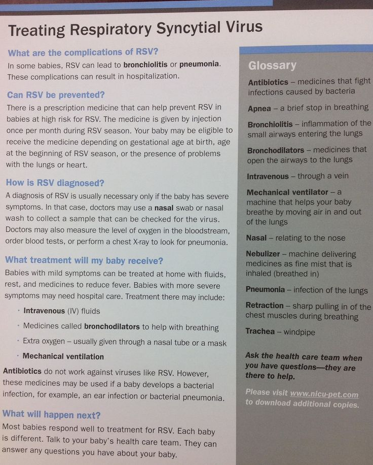 Rsv in adults fact sheets
